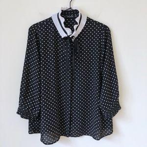 ZARA ruffle collar blouse